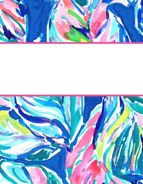 printable lilly binder covers eva darling lilly pulitzer binder covers 2017 free