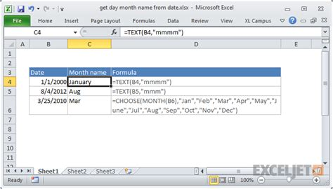 date format php month name excel formula get month name from date exceljet