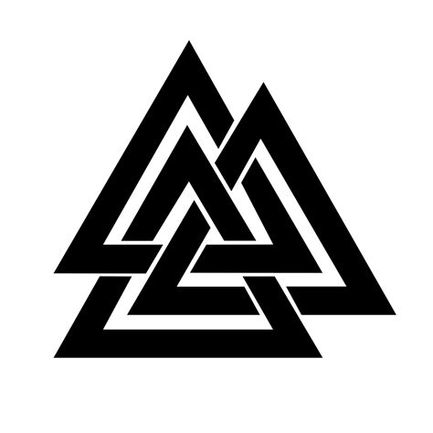 three triangle tattoo real rune magick the valknut a symbol of sacrifice