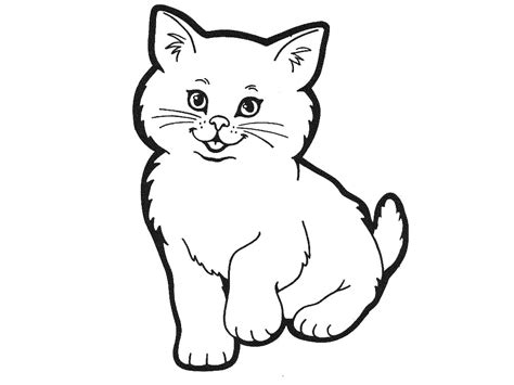 free coloring pages of cat outline