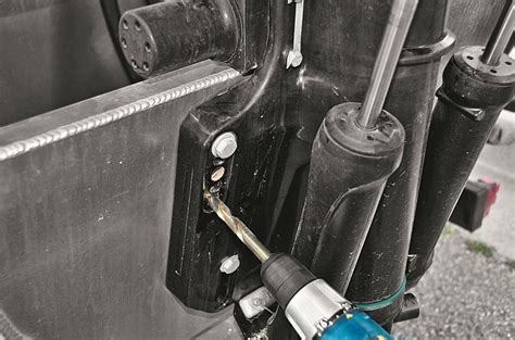 turbo swing installation turboswing install pontoon deck boat magazine