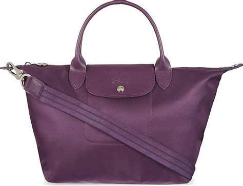 Longch Le Pliage Neo Cosmetic Small longch le pliage neo small handbag in purple purple brown lyst