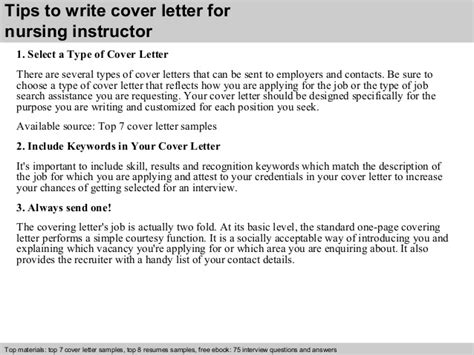 instructor cover letter nursing instructor cover letter
