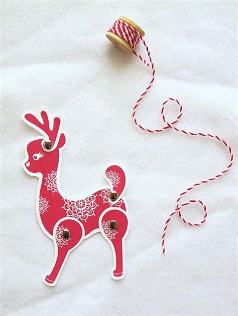 free printable movable reindeer sisters guild advents 6th door red reindeer card gift