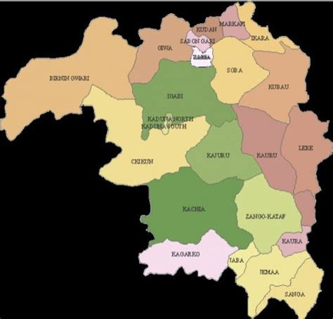 kaduna map photos maps of all 36 states in nigeria showing all local
