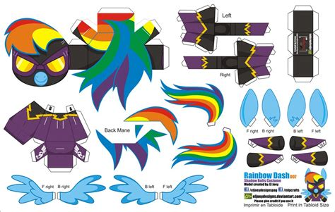 Rainbow Dash Papercraft - equestria daily mlp stuff tons of printable papercraft