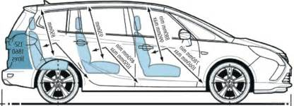 Zafira Interior Dimensions The Blueprints Com Blueprints Gt Cars Gt Opel Gt Opel