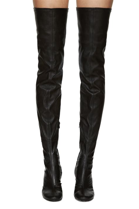 above knee boots haider ackermann black leather the knee boots in
