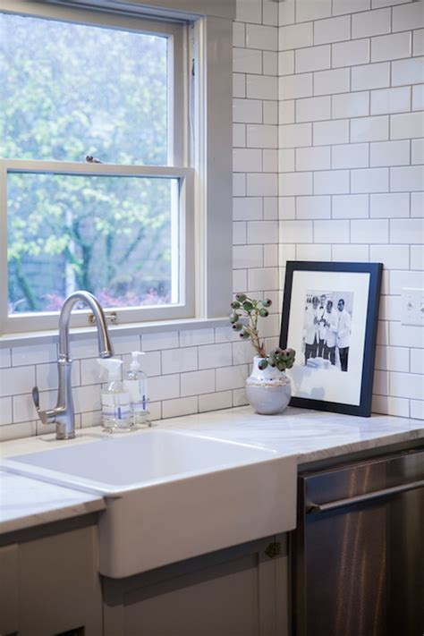 transitional kitchen with gray cabinets and farmhouse sink square farmhouse sink transitional kitchen coco kelley
