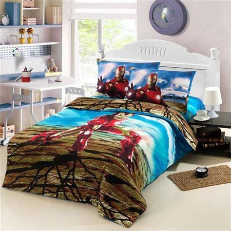 Single Bed Bedding Sets Iron Race Car Boys Bedding Set 100 Cotton Duvet Cover Single Bed Sheets