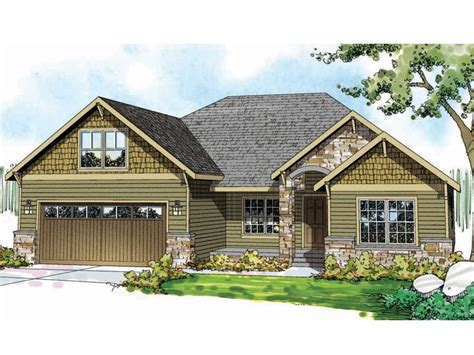 1800 Square Foot House Plans by Craftsman Home Plans One Story Craftsman House Plan