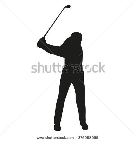 Swing Golf Italiano by Golf Swing Golf Player Isolated Silhouette Stock Vector