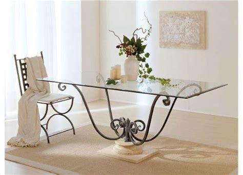 tavolo ferro battuto e vetro tavoli in ferro battuto e legno ispirazione design casa