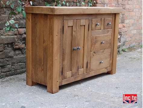 Handcrafted Pine Furniture - plank pine combination sideboard handmade by incite derby