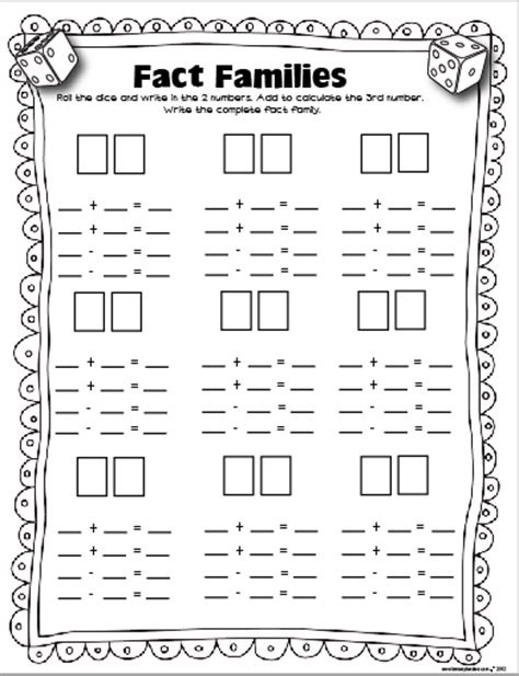 printable addition dice games math on pinterest worksheets dice and fact families