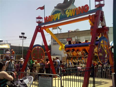 coney island swing ride luna park coney island happy swing