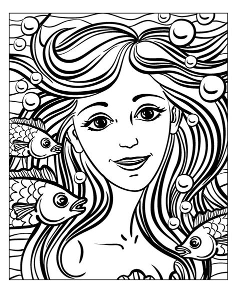 coloring pages for adults faces free coloring page coloring mermaid by natuskadpi