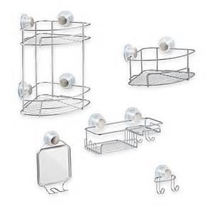 Bath Shower Accessories interdesign 174 turn n lock suction shower accessories bed