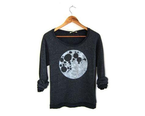 3 4 Sleeve Oversized Sweatshirt moon tunic fleece oversized 3 4 sleeve scoop neck