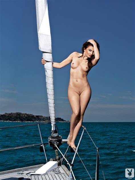 Sara Mercnik Yacht Nude Slovenia Playboy Redbust