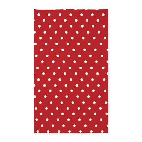 Polka Dot Kitchen Rug And White Polka Dot 3 X5 Area Rug By Inspirationzstore