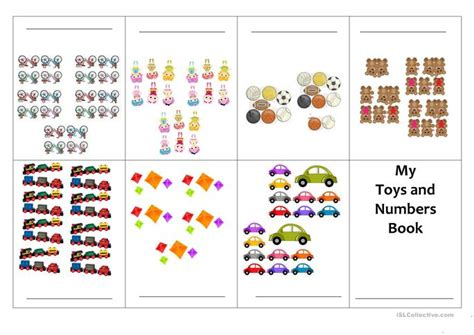printable mini numbers mini books number and toy worksheet free esl printable