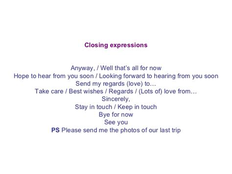 Informal Letter Closing Ppt An Informal Letter