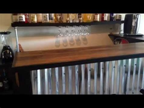 Bar Height Kitchen Island pallet bar quot tutorial quot for less than 200 youtube