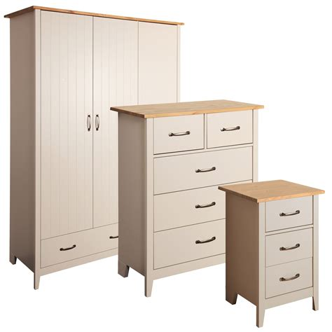 bedroom furniture at b q westwick grey pine effect 3 piece bedroom furniture set