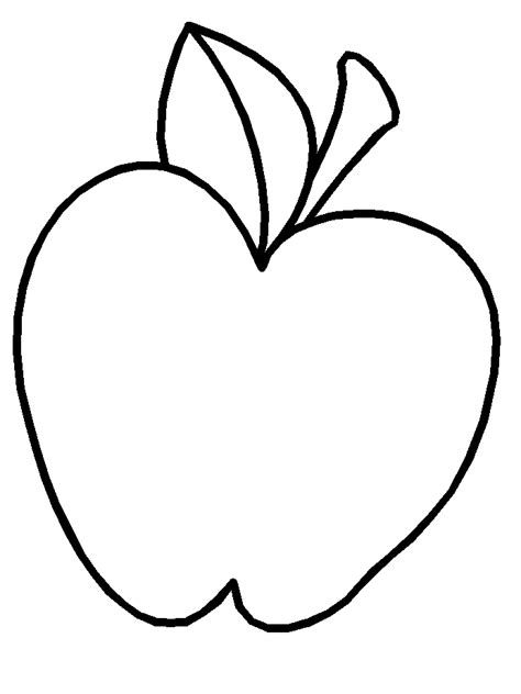 Coloring Page Apple free 14 apple fruit coloring sheet