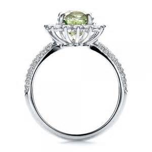 green engagement rings custom green sapphire and engagement ring 100111