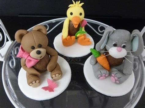 teddy rabbit  duck decorated creme eggs   easter cupcakes easter chocolate