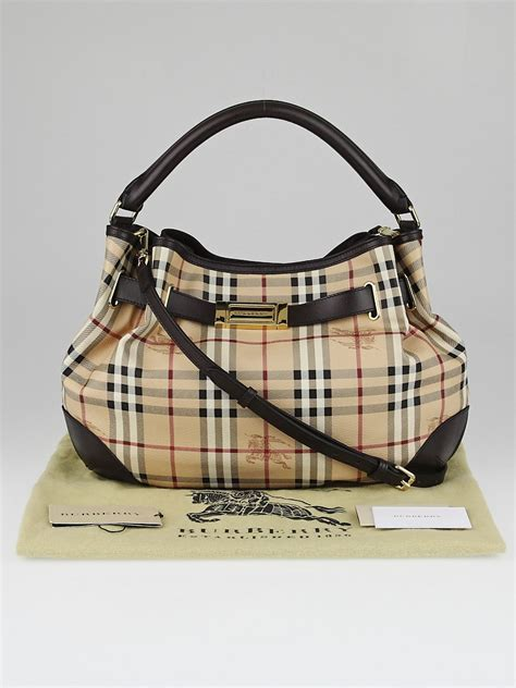 Burberry Check Canvas Hobo Bag Bliss by Burberry Haymarket Check Coated Canvas Willenmore Medium