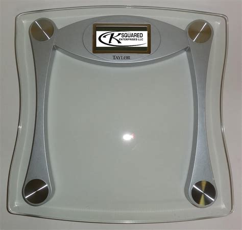 taylor digital bathroom scale nib taylor glass digital high capacity bathroom scale 7516
