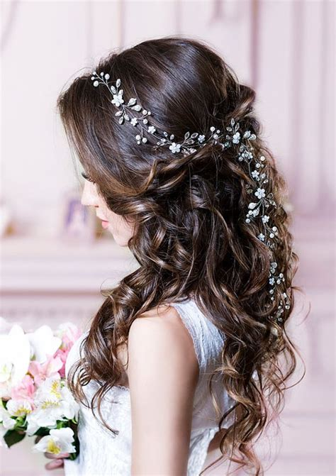 wedding hair with flowers 2017 trending wedding hairstyles best dreamiest bridal
