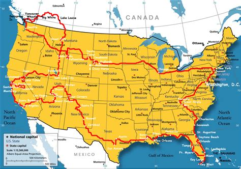 map of the usa and canada boundary map of the usa with canada whatsanswer
