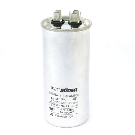 what size capacitor for generator suoer cbb65a 50uf 450v ac polypropylene generators run motor capacitor ws ebay
