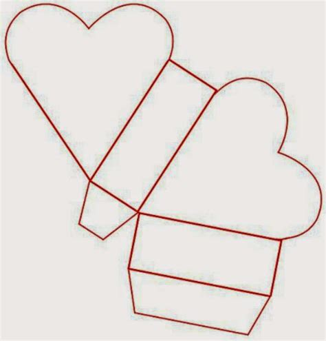 templates for heart shaped boxes moldes gratis de cajas para fiestas ideas y material