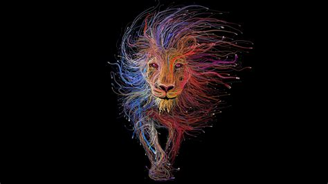 wallpaper abstract lion lion animal abstract minimalism wallpaper 3d and