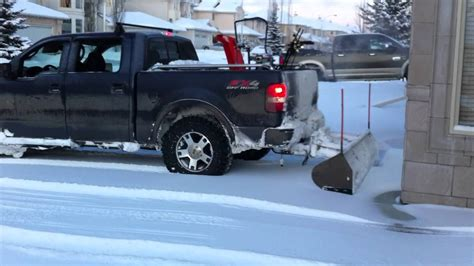 rear snow plow  ford   youtube