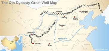Great Wall Of China Map Outline by Wall Of Ancient Qin Dynasty Great Wall Of The Qin Dynasty