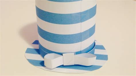 Make Hat Out Of Paper - how to create a paper top hat diy crafts tutorial