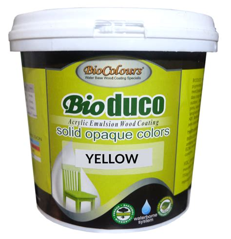 Biocolours Bioduco Grey biocolours 174 bioduco solid stain yellow cat paint coating