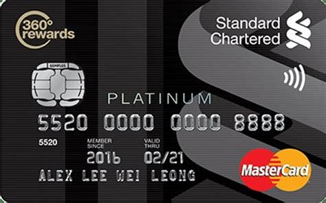 standard chartered bank card standard chartered platinum mastercard dining discounts