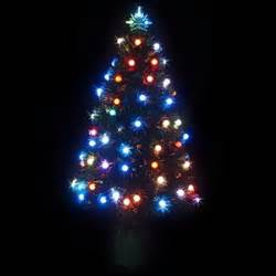 buy 90cm led fibre optic christmas tree multi