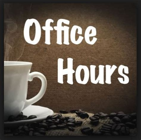 office hours and news updates