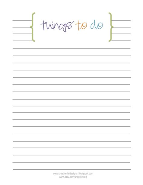 blank to do list template creative designs free printables