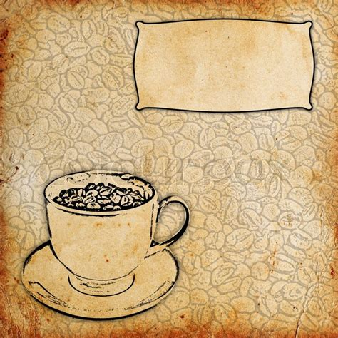 wallpaper coffee vintage vintage coffee background stock photo colourbox