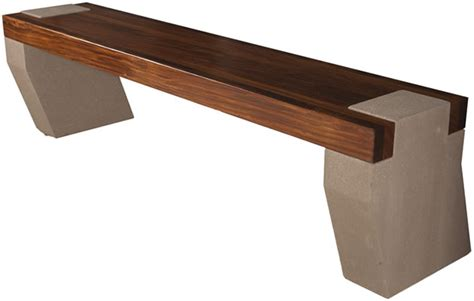 wood bench legs bench with concrete legs and afromosia wood seat concrete
