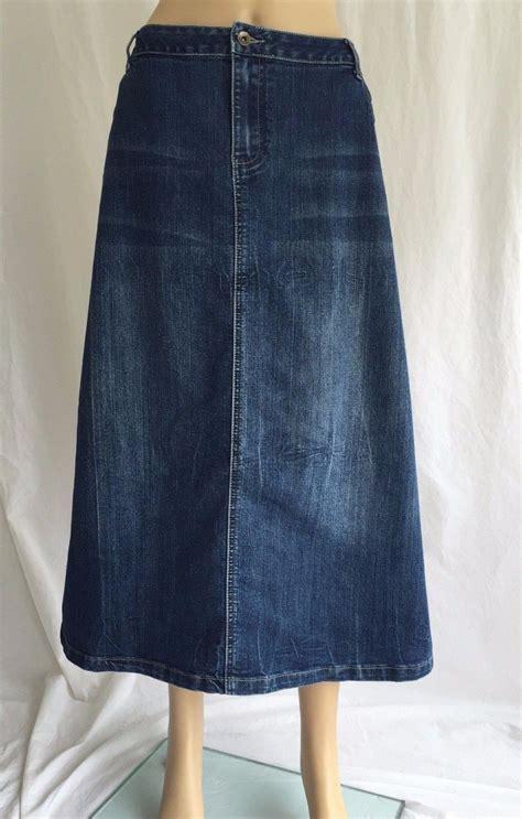 cato modest denim maxi skirt womens plus size 20w